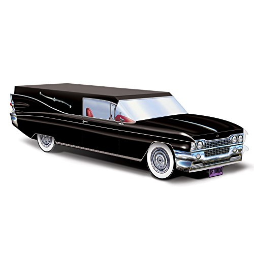 Hearse Halloween Decoration (Beistle 00652 Black Hearse Centerpiece,)