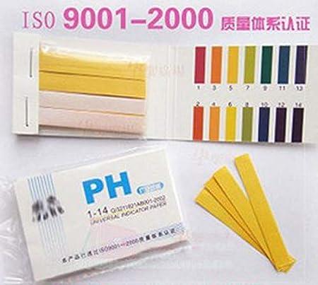 NO LOGO SHIYM-PH, 80 Tiras Medidores de pH Indicador de Papel Valor de pH 1-14 Prueba de tornasol Probador de Papel Papel for el Cuidado de la Salud Papel Kit de Agua