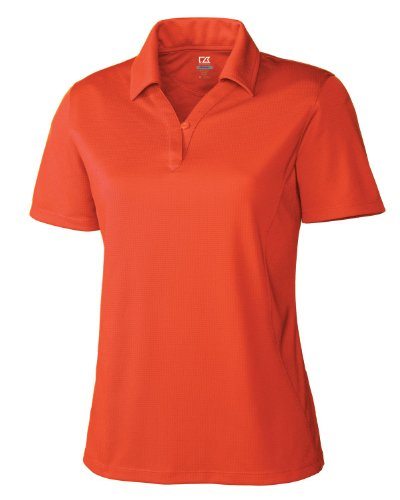 Cutter & Buck Women's Plus Size Drytec Genre Short Sleeve Polo, College Orange, 4X