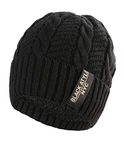 (Winter Beanie Hat (Not Crhartt) – Black Men Women Thick Knit Knitted Warm Watch Stocking Skull Acrylic Knit Caps)