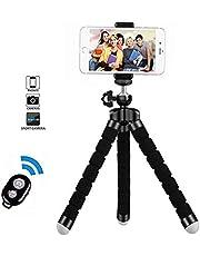 Handy Stativ Smartphone Stativ Mini Flexibel Reisestativ Handy Halter Halterung mit Bluetooth Fernsteuerung Shutter für Kamera, iPhone, Sumsung