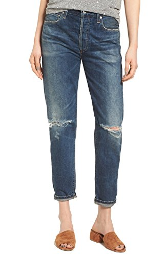 Citizens Of Humanity Classic Jeans (Citizens of Humanity Liya High Rise Classic Fit Crop Slim Jean (Sagla, 28))