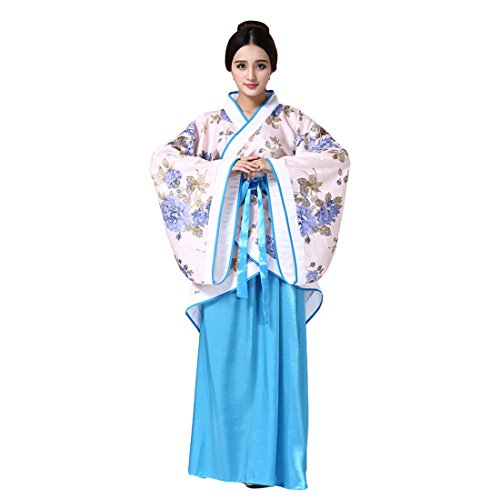 Ez-sofei Women's/Girls Ancient Chinese Traditional Costumes Hanfu (M, C-Pink&Blue)