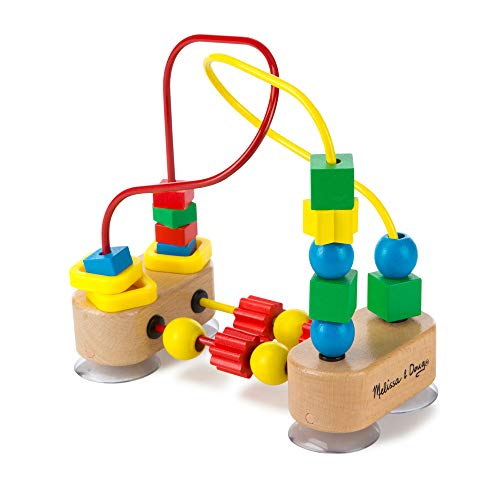 Melissa & Doug First Bead Maze - The Original (Wooden Educational Kids Toy, Great Gift for Girls and Boys - Best for Babies and Toddlers, 12 Month Olds, 1 and 2 Year Olds)