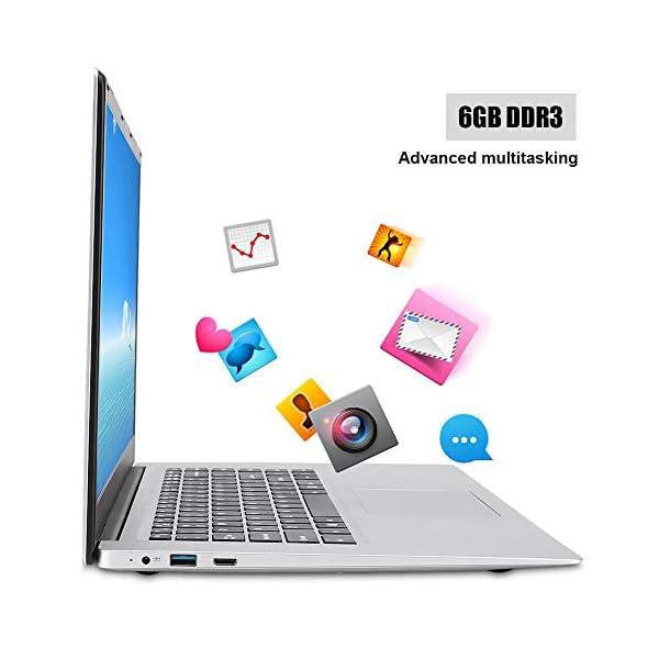 "15.6 "" Notebook - YEPO N15 15,6 pollici IPS 1920 x 1080 HD Notebook PC Laptop per Windows 10, per CPU Intel Celeron N3350, DDR3 6GB, 64GB EMMC, Supporto USB/Bluetooth 4.0/Mini HDMI/WiFi(Spina UE) 4 spesavip"