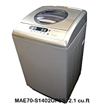 Midea 7kg Compact Portable Washing Machine / Washer (MAE70-S1402GPSS, 2.1 Cu.ft /15 lbs, Silver)