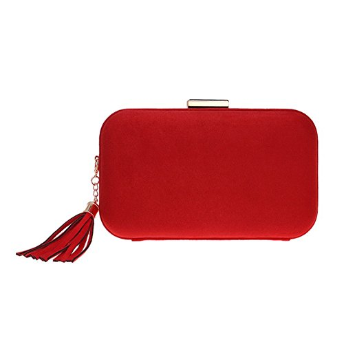 Color 5 Banquet Evening European Tassel Bag American 1 Clutch QEQE Evening Fashion Women's Fashion And Bag 8qaZO
