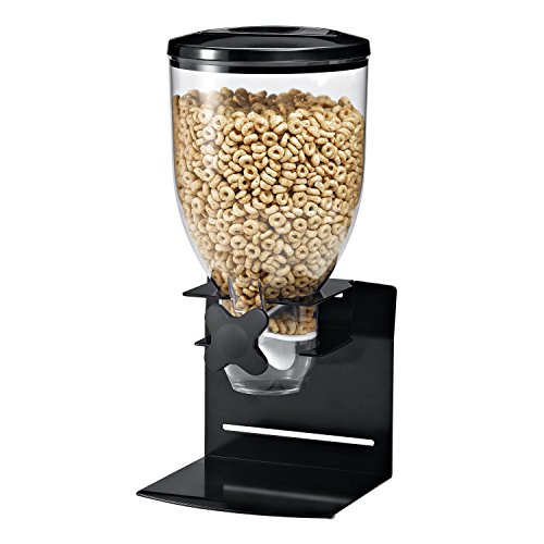 Zevro KCH-06152 Indispensable Professional Dry Food Dispenser, Single Control, Stainless Steel, Black/Chrome (Indispensable Dry Food Dispenser)