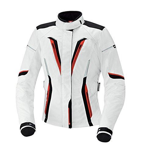 IXS Women's Rina Jacket (White/Black/Red, Large) (Womens Jacket Touring)