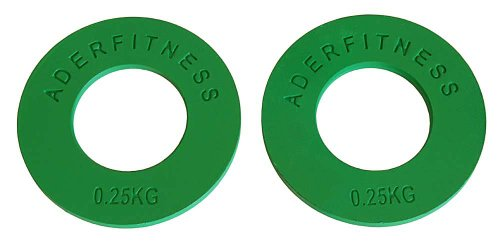 Ader Olympic Fractional Plates Pair- .25 Kg Green by Ader Sports
