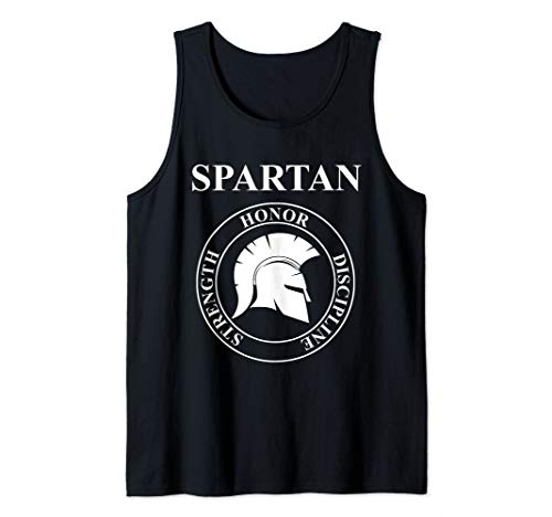 Spartan Warrior Virtues of Sparta Helmet Tank Top