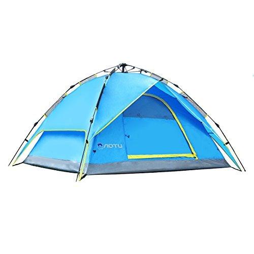 6 opinioni per Femor Tenda Istantanea da Campeggio per 3-4 Persone, 2 Ripiani Tenda Automatica