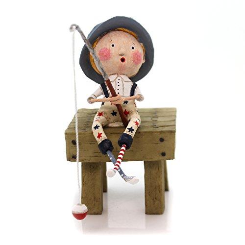 Lori Mitchell GONE FISHIN Polyresin Figurine Summer July 4Th Pole 11079