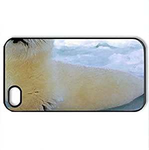 Baby Harp Seal - Case Cover for iPhone 4 and 4s (Watercolor style, Black)