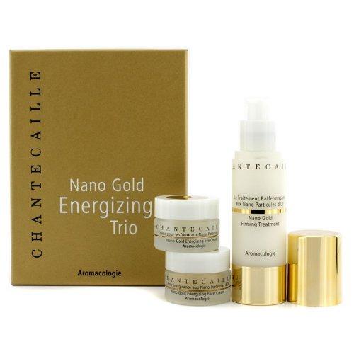 Chantecaille Nano Gold Energizing Trio: Firming Treatment 50ml + Face Cream 15ml + Eye Cream 15ml 3pcs