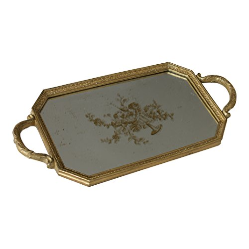GILDED AGE 12486 Biltmore Tray (Gold Antique Gilded Patina)