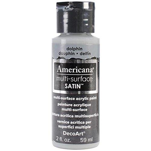 DecoArt Americana Multi-Surface Satin Acrylics Paint, 2-Ounce, Dolphin