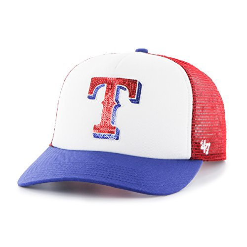 MLB Texas Rangers Glimmer Captain CF Hat, One Size, Red