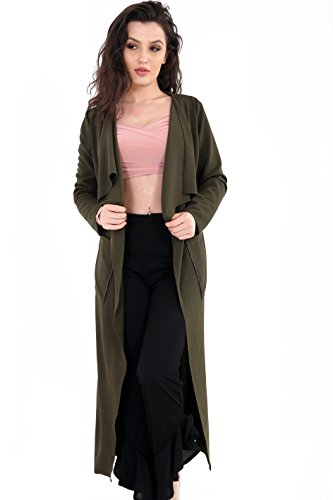 Get The Trend - Abrigo - para mujer verde oliva
