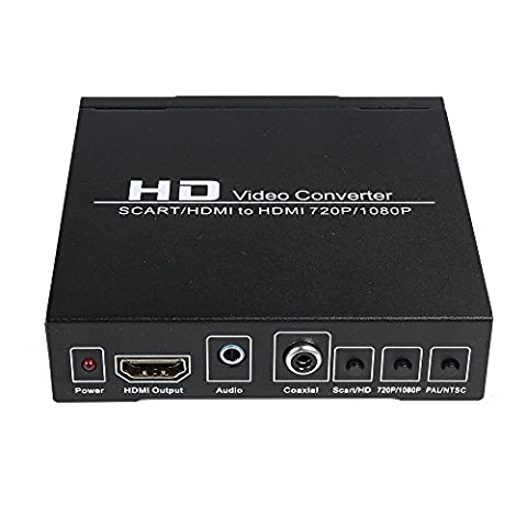 Eonego PAL/NTSC SCART/HDMI to HDMI HD Video Converter for Game Consoles (PS2 PS3 PSP,WII,XBOX360 etc) , DVD, (Snes Rgb Scart)