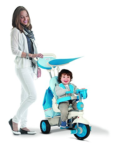 smarTrike Explorer 5 in 1 Baby Trike Light Weight 13.2 Pounds With Foot Rest Reclining Seat Quiet Ride Wheels Cup Holder Storage Bag and Padded Seat - Blue by smarTrike (Image #6)