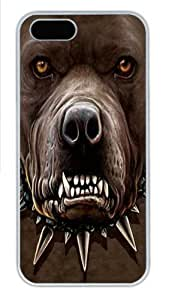 For SamSung Galaxy S5 Phone Case Cover -Zombie Pitbull Face PC For SamSung Galaxy S5 Phone Case Cover White