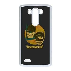 LG G3 Cell Phone Case White Batman and Robin Dynamic Duo J6Z6OV