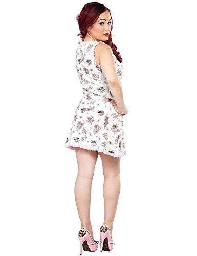 Bettie Page - Vestido - para mujer blanco