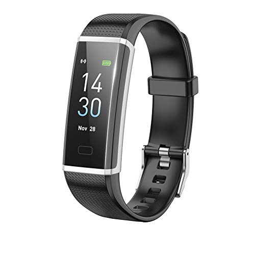 shifenmei Fitness Tracker HR, Activity Tracker Watch with Heart Rate Monitor, Waterproof Smart Fitness Band with Step Counter, Calorie Counter, Pedometer Watch for Kids Women and Men (Black) (Best Facebook Status To Get The Most Likes)