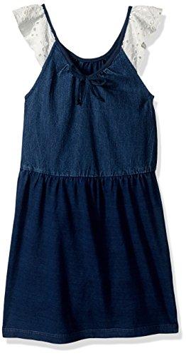 GUESS Girls' Little Sleeveless Denim Dress, Indigo, 6 ()