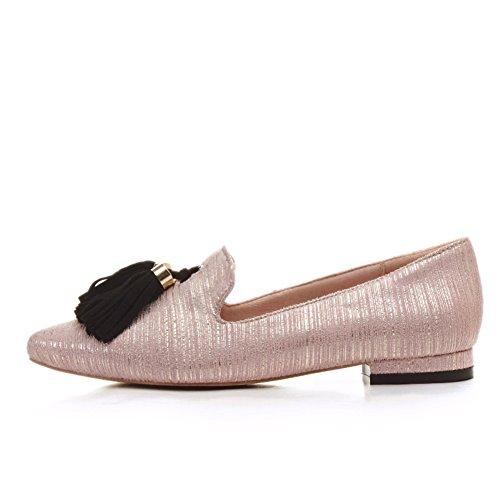 Zapatos Mujer Primavera/zapatos bajo acentuados poco profundos/La versión coreana del talón grueso pies dulce salvaje A