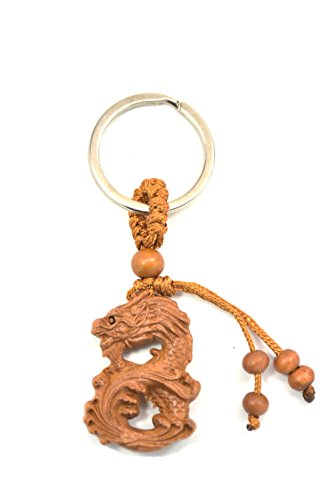 feng shui Chinese Horoscope Chinese Zodiac Handmade Wooden Keychain Home Decoration Attract Money Gift - Keychain Wooden Handmade