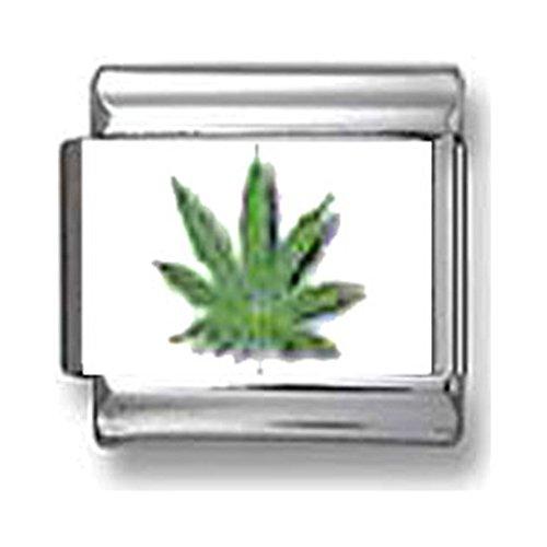 Marijuana Leaf Italian Charm
