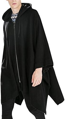 ポンチョ メンズ ケープ マント コート ボタン 軽い メルトン カジュアル ビジネス 防寒 ショート 正規品 cmz24218