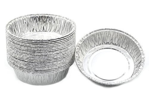 Disposable Foil 4-1/4'' Mini Pot Pie, Food, Mini Pie/Tart Pans 1 Pack of 25 Pcs.