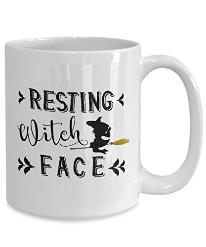 Resting Witch Face Halloween Coffee Mug, Witches, Halloween Lovers Mug, Funny Halloween Mug, Parody for $<!--$12.99-->