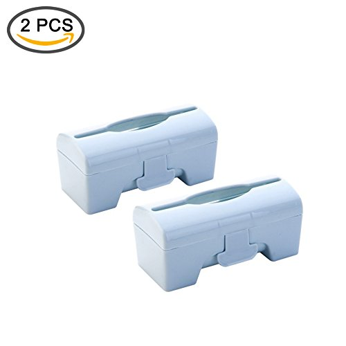 Rommeka Wall Mount Disposable Garbage Bag Dispenser and Organizer for Kitchen Bathroom Office, 2 pcs