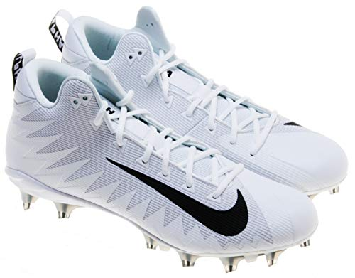 Nike Men's Alpha Menace Pro Mid TD PF Football Cleats; White/Black (14.5)