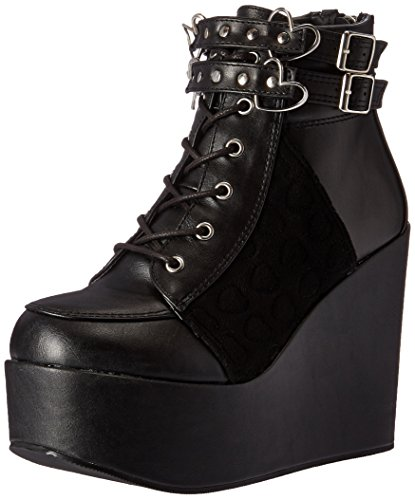 Vegan Bvl velvet Poi105 womens Demonia Black Leather vel wgzB7q