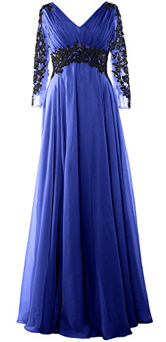 6dd71ba08b MACloth Women Lace Evening Gown Long Sleeve V Neck Mother of The Bride Dress