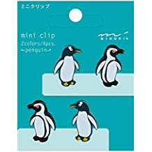 Midori Mini Clip, 4 Pieces, Penguins (43313006)
