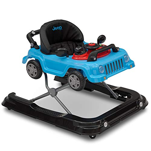 (Jeep Classic Wrangler 3-in-1 Grow with Me Walker, Blue)