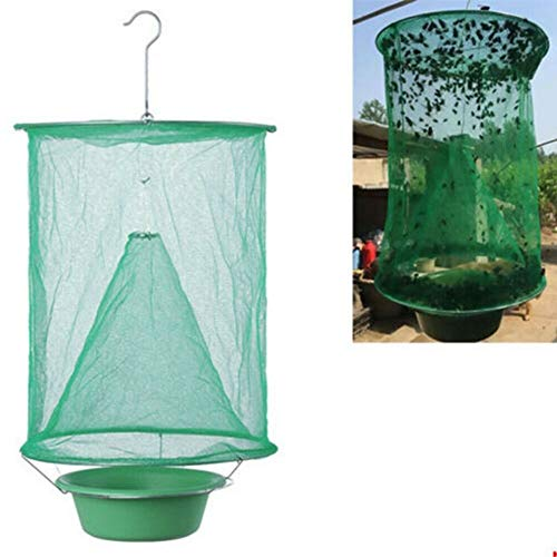 Sunshay Folding Mosquito Fly Capture Tools Outdoor Mesh Net Insect Bug Garden Hanging Trap with Pot
