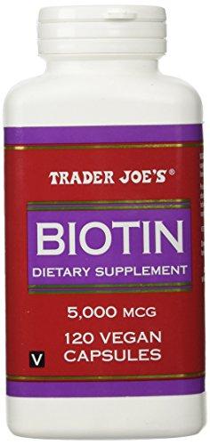UPC 000098122400, Trader Joes Biotin, 5000mcg, 120 Vegan Capsules