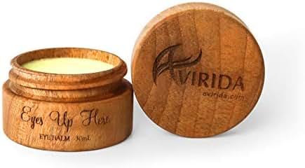 AVIRIDA - 100% Natural & Organic Eye Cream Balm- Anti Aging Face Cream, Anti Wrinkle Night/Day Moisturizer for Face - BEST Wrinkle Cream - Vitamin E for Dark Circles & Puffiness Corrector Treatment