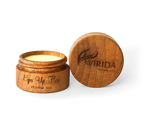 AVIRIDA 100% Natural & Organic Eye cream - Anti Aging Face Cream Anti Wrinkle Night/Day Moisturizer for Face - BEST Wrinkle Cream - Vitamin E for Dark Circles & Puffiness Corrector Treatment Balm 30ml