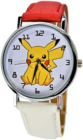 Pokémon Pikachu Quartz Analog Wrist Watch For Men Women Boys Girls Children.Large Modern Display.
