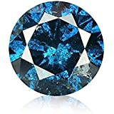 Blue Diamond Round Brilliant Cut Loose Diamond Natural Earth-mined Enhanced (I1-I2)