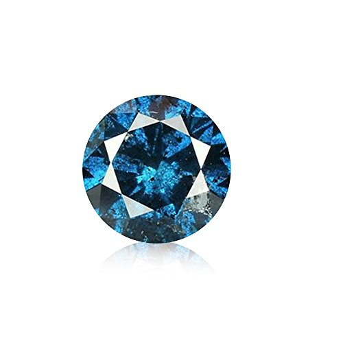 0.03 ct Blue Diamond Round Brilliant Cut Loose Diamond Natural Earth-mined Enhanced (I1-I2)