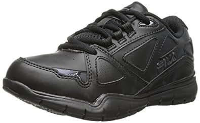 FILA Side-by-Side Cross Training Shoe (Little Kid/Big Kid), Black/Black/Black, 3.5 M US Big Kid